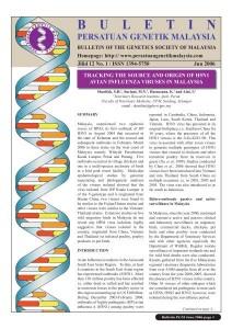 Book Cover: PGM Bulletin Genetik June 2006