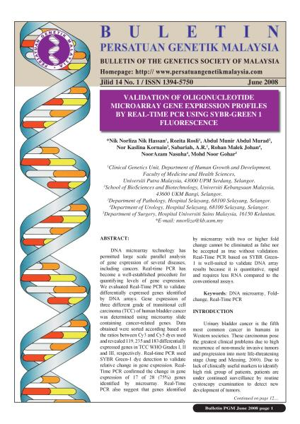 Book Cover: PGM Bulletin Genetik June 2008