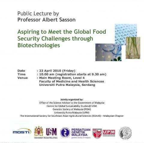 Aspiring to Meet the Global Food Security Challenges through Biotechnologies