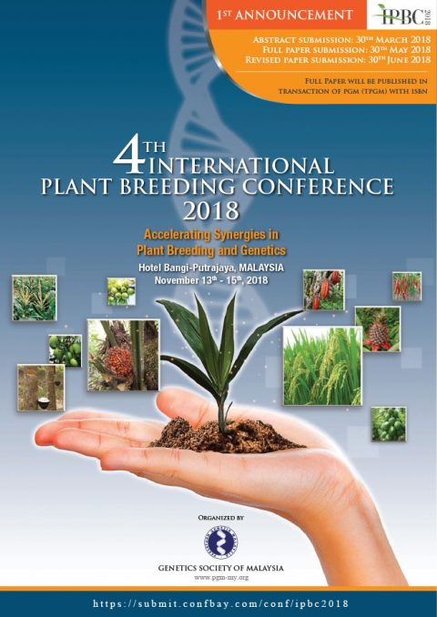 4th International Plant Breeding Conference 2018