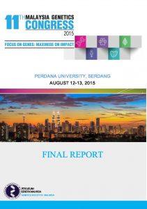 Book Cover: PGM 11th Malaysia Genetics Congress Report