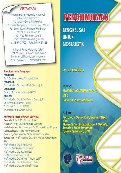 Bengkel SAS Untuk Biostatistik