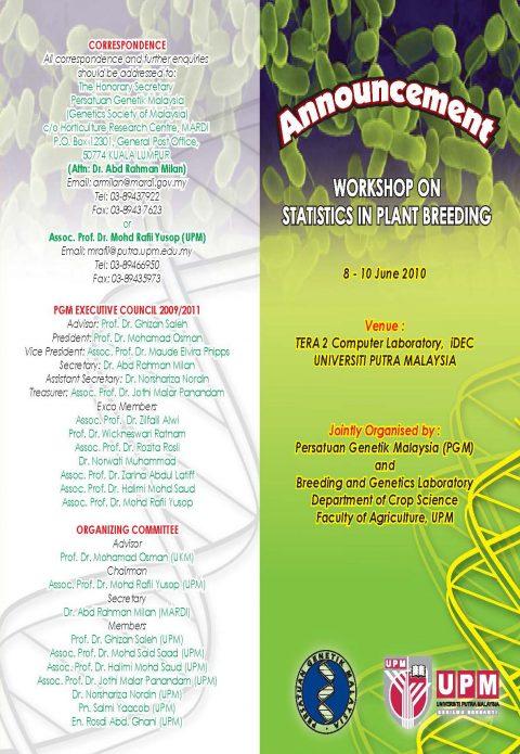Workshop on Statistics in Plant Breeding