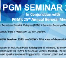 PGM Seminar 2020 & PGM's 25th Annual General Meeting